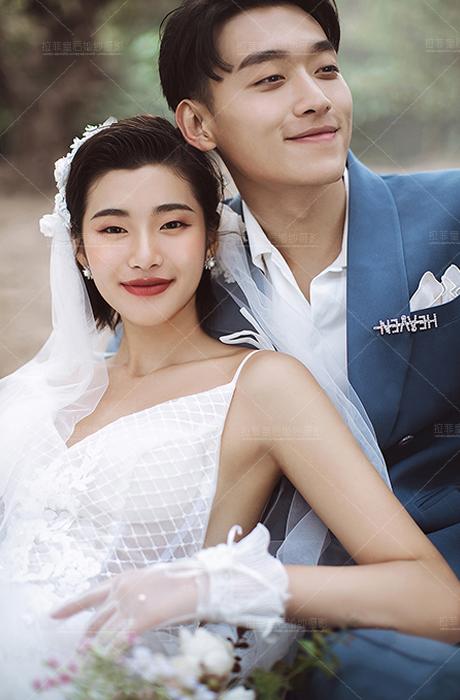 【拉菲皇后婚纱摄影】绿光森系